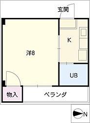メゾン上汐田[4階]の間取り