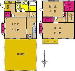 [タウンハウス] 東京都町田市成瀬が丘3丁目 の賃貸【/】の間取り