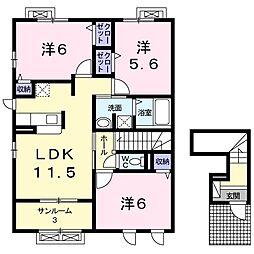 ラパンIV[2階]の間取り
