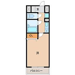 サンパティーク南塚口[2階]の間取り