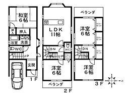 [一戸建] 大阪府堺市北区金岡町 の賃貸【/】の間取り