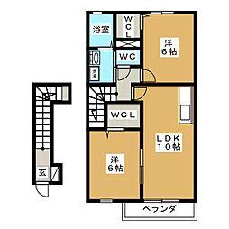 ミルトフリーデII[2階]の間取り