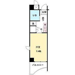 ZEST笹塚[703号室]の間取り