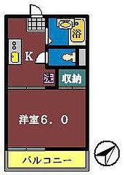 フォーブル幕張1・2[1-110号室]の間取り
