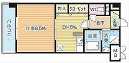 福岡県北九州市小倉北区東篠崎2丁目の賃貸マンションの間取り