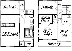 [一戸建] 静岡県浜松市中区上島1丁目 の賃貸【/】の間取り