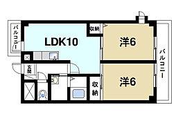 シャルムマノワール[3階]の間取り