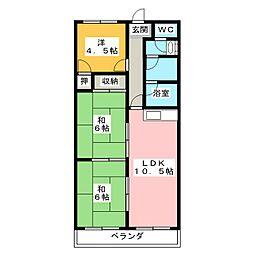 ローレルコート福島[1階]の間取り