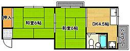 兵庫県神戸市兵庫区石井町3丁目の賃貸アパートの間取り