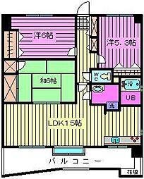 埼玉県さいたま市北区宮原町1丁目の賃貸マンションの間取り