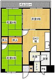 古賀第一ビル[4階]の間取り