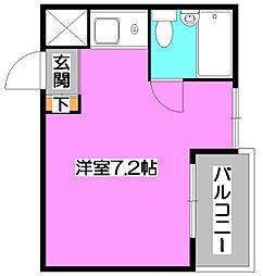 東京都清瀬市竹丘1丁目の賃貸マンションの間取り
