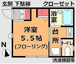 東京都江戸川区一之江5丁目の賃貸アパートの間取り