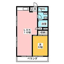アジマコーポ[5階]の間取り