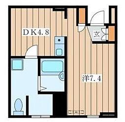神奈川県横浜市瀬谷区宮沢1丁目の賃貸マンションの間取り