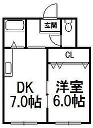 リリーズマンション[23号室]の間取り