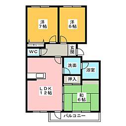 M彦尾平[3階]の間取り