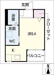 パレッタ八田[1階]の間取り