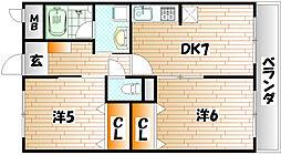 クレアーレ加用[3階]の間取り