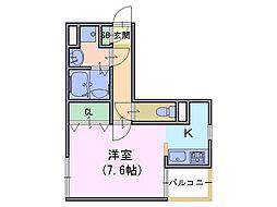 グレイスノート[1階]の間取り