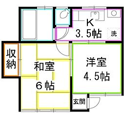 [テラスハウス] 東京都小金井市本町5丁目 の賃貸【/】の間取り