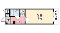 アメニティ武庫川[402号室]の間取り