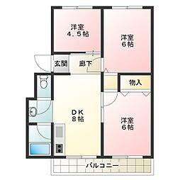橋川マンション[3階]の間取り