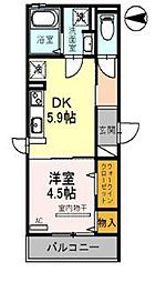 JYOUHOKU檸STREET(ジョウホクケヤキストリート)[201号室]の間取り