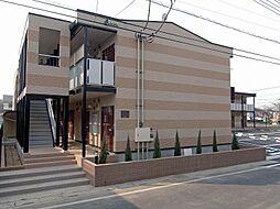 埼玉県草加市稲荷6丁目の賃貸アパートの外観