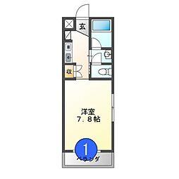愛知県名古屋市中村区中村中町4の賃貸マンションの間取り