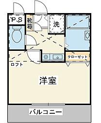 ジュネッタ16[2階]の間取り