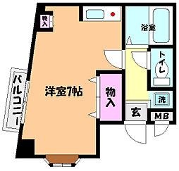 兵庫県神戸市灘区篠原中町2丁目の賃貸アパートの間取り