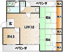 東口マンション[2階]の間取り