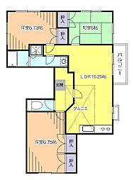 外人ハウス[2階]の間取り