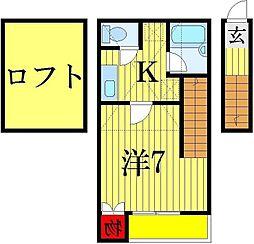 Azure柴又[2階]の間取り