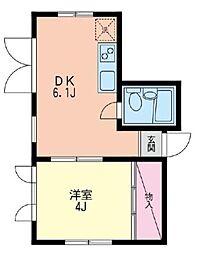 エポック元町汐汲坂[2階]の間取り