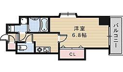 Luxe西田辺[202号室]の間取り