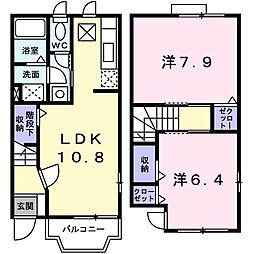 サニーグレイスM1号館[1階]の間取り