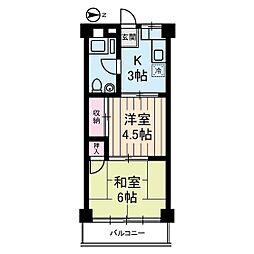 アムス桜丘[2階]の間取り