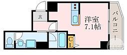 京阪本線 森小路駅 徒歩1分の賃貸マンション 3階1Kの間取り
