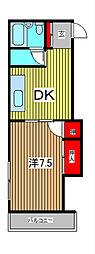 AS戸田[2階]の間取り
