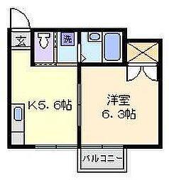 東京都葛飾区小菅1丁目の賃貸アパートの間取り