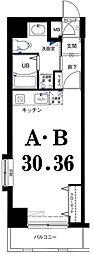 グリフィン横浜・ピュア[5階]の間取り