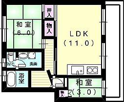新多聞第2住宅[2階]の間取り