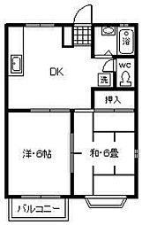 サンハイムA・B[1階]の間取り