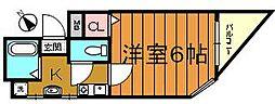 大阪府堺市堺区熊野町東1丁の賃貸マンションの間取り