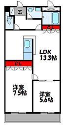 エクセレンス和田II[102号室]の間取り