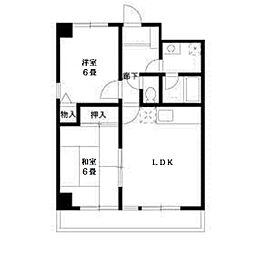 コンフォートソシアK[3階]の間取り