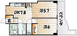 ダイナリーコアビル[5階]の間取り