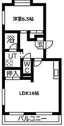 愛知県名古屋市天白区平針1の賃貸マンションの間取り
